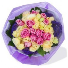 One Dozen Maria Pink Rose Bouquet